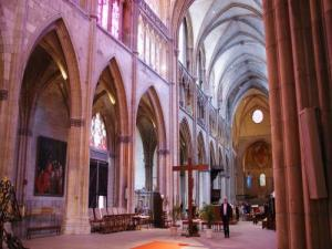 Interior of the cathedral Saint-Cyr-et-Sainte-Julitte