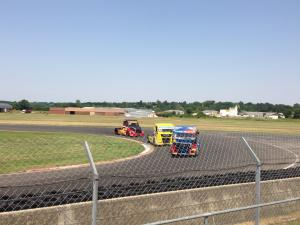 The truck race...