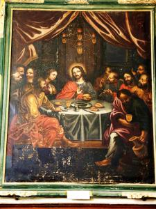 The Last Supper, an old painting in the church (© Jean Espirat)