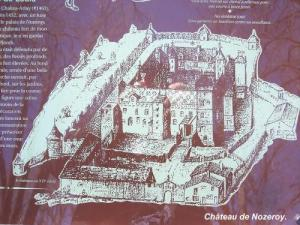 Map of the old castle (© Jean Espirat)