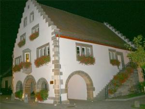The building at night
