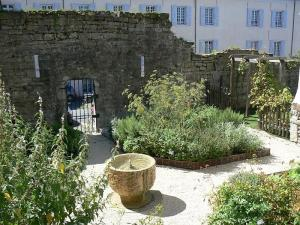 Medieval garden of the heritage house of Oloron-Sainte-Marie