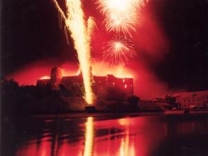 Fireworks at the castle of Pouancé