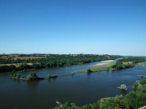 Viewpoint over the Loire and the Ile in Neuve Champalud