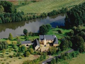 Aerial view of the mansion Rousson