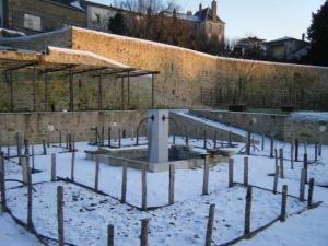 medieval Garden in the snow