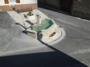 The fountain near the church