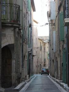 Typical street in Pézenas, the Raspail street from the sixteenth to the nineteenth century
