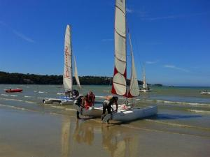catamaran outing in St Efflam