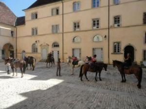 Horse riding in the beautiful courtyard Ursuline