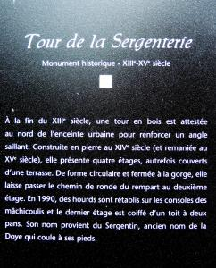 Information on the tower of the Sergenterie (© Jean Espirat)