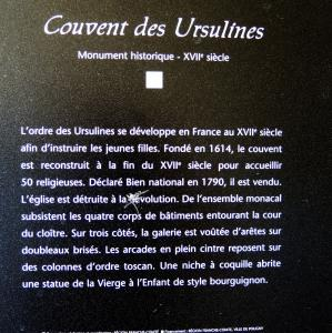 Information on the Ursuline Convent (© Jean Espirat)