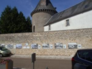 Larger pictures on the wall of the abbey