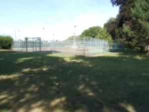 Tennis courts in the municipal park