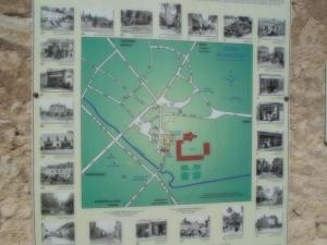 Map of the museum in the street