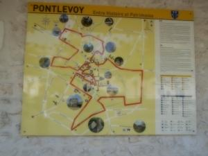 Street map of the town of Pontlevoy