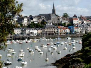 Pornic The old port and the upper town, its church