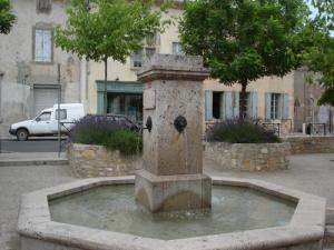 The fountain located in the heart of the village