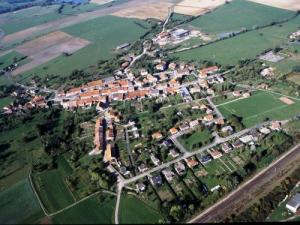 The village seen from the sky