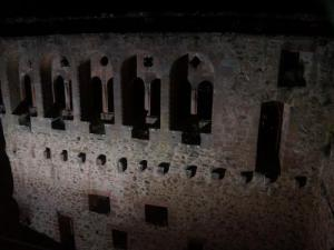Saint Ulrich Castle - Hall of Knights lit