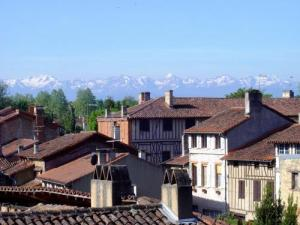 The Pyrenees from the roofs of Rieux