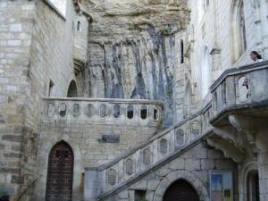 Rocamadour, carved into the rock