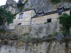 terraced houses in the rock Rocamadour
