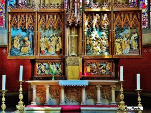 High altar of the Church of Our Lady of the Assumption (© Jean Espirat)