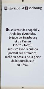 History of the castle of Isenbourg (© J.E)