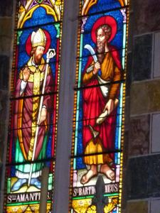 Stained Glass St Amant and St. Barthelemy