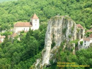 The rock of the medieval castle