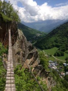 Via Ferrata Chal - Ausblick Saint-Colomban-des-Villards