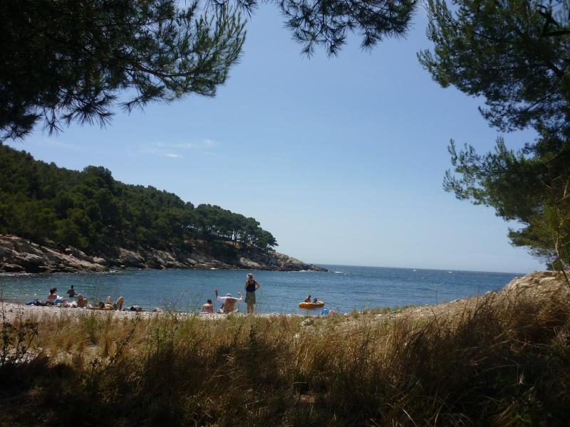 Beach of the calanque du port d 39 alon leisure centre in - Camping port d alon saint cyr sur mer ...