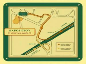 Map of the expo plant sale