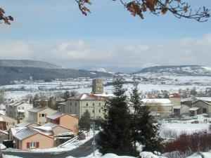 Bourg Town in winter