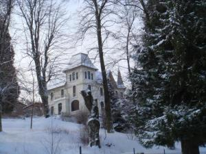 Mansion in the snow
