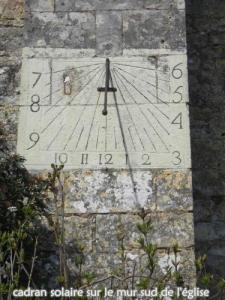 Sundial (south wall of the church)