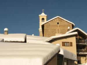 View of the church in winter