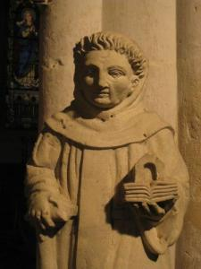 Statue of St. Fiacre, the 15th century