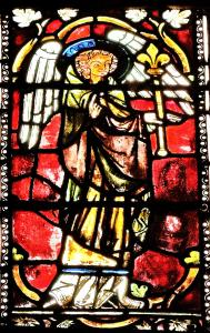 Detail of a stained glass window - St. George's Church (© Jean Espirat)