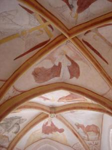 walls of the choir of the Romanesque church of Saint Julien