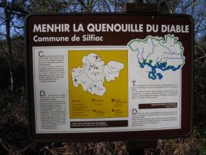 Panel presentation of the menhir Quenouille Devil