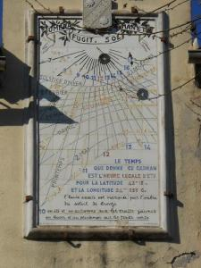 The sundial of the old town hall