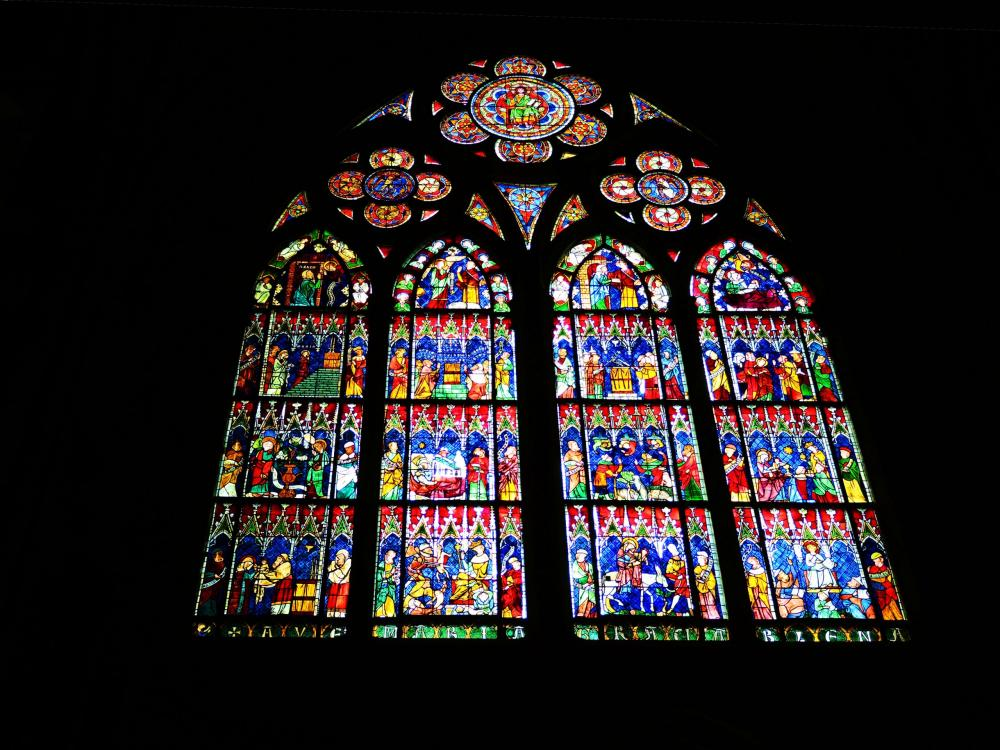Strasbourg - stained Glass Cathedral (© Jean Espirat)