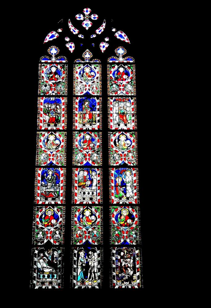 Strasbourg - Other stained glass of a side chapel of the cathedral (© Jean Espirat)