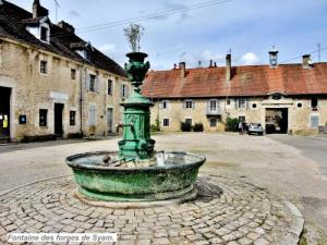 Fountain in the courtyard of the forges ( © Jean Espirat )