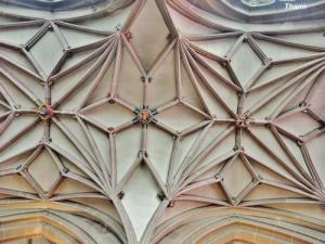 Ribs of the ceiling of the north aisle of the collegiate church (© J.E)