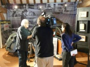 Interview France 3 before the 2CV Corniaud