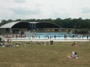 The wave pool in the leisure