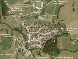 Aerial Photography of the village with road access 8